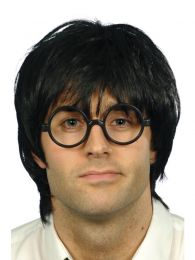 Schoolboy Set, Black, with Wig and Glasses