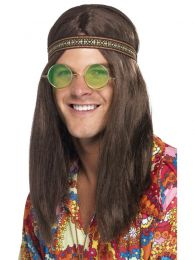 Mens Hippie Kit, with Headband, Specs and Necklace
