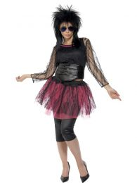 80s Icon Costume, Black and Pink