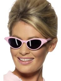 Flyaway Style Rock and Roll Sunglasses, Pink, with Diamante